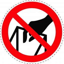 Panneau Autocollant D'Interdiction - Ne Pas Mettre Les Mains
