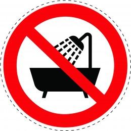 Panneau Autocollant D'Interdiction -  Ne Pas Utiliser Ce Dispositif...