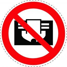 Panneau Autocollant D'Interdiction - Ne Pas Couvrir