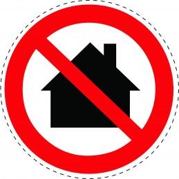 Panneau Autocollant D'Interdiction - Ne Pas Utiliser Dans Les Zones...