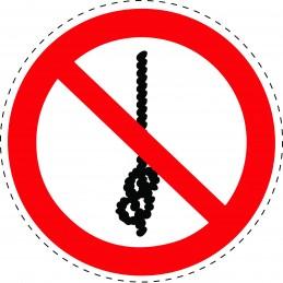 Panneau Autocollant D'Interdiction - Ne Pas Faire de Noeuds Avec la...