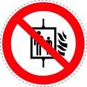 Panneau Autocollant D'Interdiction - Interdiction D'Utiliser...