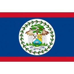 Drapeau Autocollant Belize...