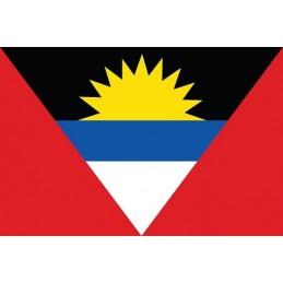 Drapeau Autocollant Antigua et Barbuda 5 cm