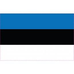 Drapeau Autocollant Estonie...