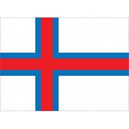 Drapeau Autocollant Faroe 5 cm