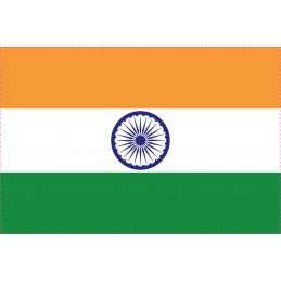 Drapeau Autocollant Inde 5 cm