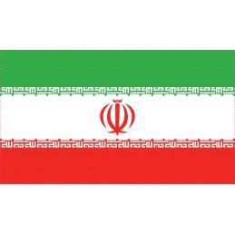 Drapeau Autocollant Iran 5 cm