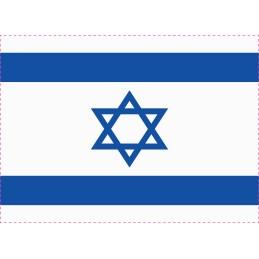 Drapeau Autocollant Israël...