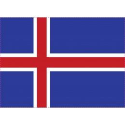 Drapeau Autocollant Islande...