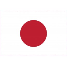 Drapeau Autocollant Japon 5 cm