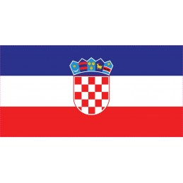 Drapeau Autocollant Croatie...