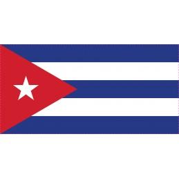 Drapeau Autocollant Cuba 5 cm