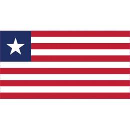 Drapeau Autocollant Libéria...