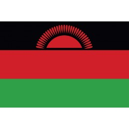 Drapeau Autocollant Malawi...