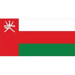 Drapeau Autocollant Oman 5 cm