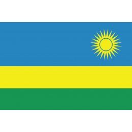 Drapeau Autocollant Rwanda...