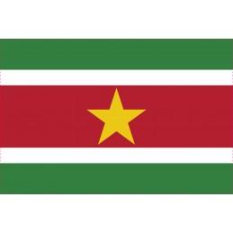 Drapeau Autocollant Surinam...