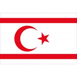Drapeau Autocollant Turquie République Northcyprus 5 cm