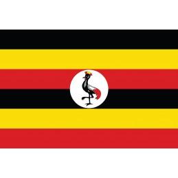 Drapeau Autocollant Ouganda 5 cm
