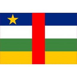 Drapeau Autocollant Afrique Centrale 5 cm