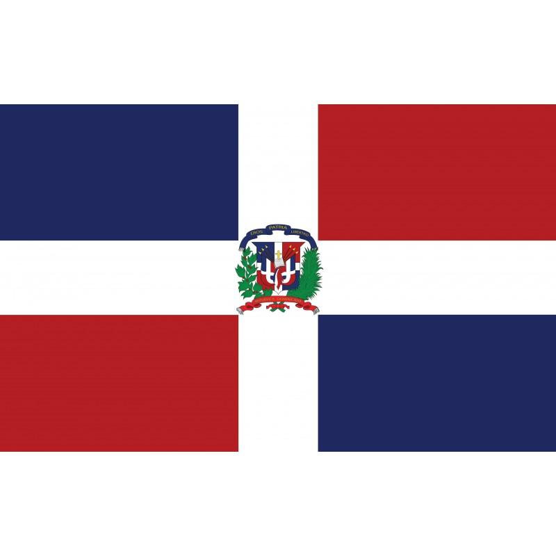 Drapeau Autocollant République Dominicaine 10 cm