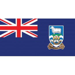 Drapeau Autocollant Îles Falkland 10 cm