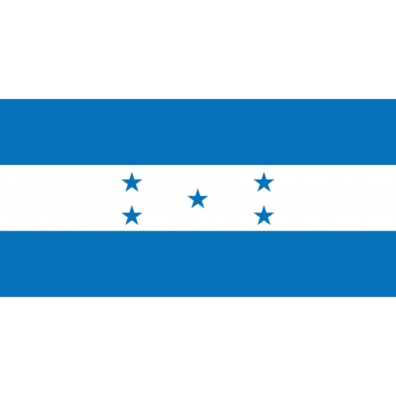 Drapeau Autocollant Honduras 10 cm