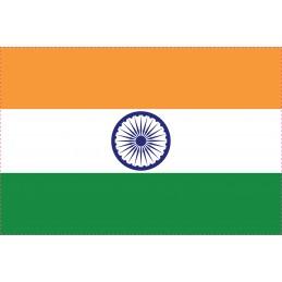 Drapeau Autocollant Inde 10 cm