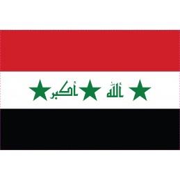 Drapeau Autocollant Iraq 10 cm
