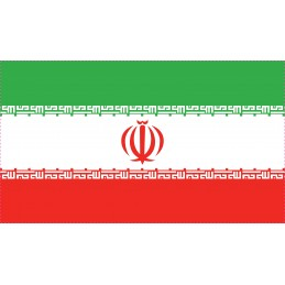 Drapeau Autocollant Iran 10 cm