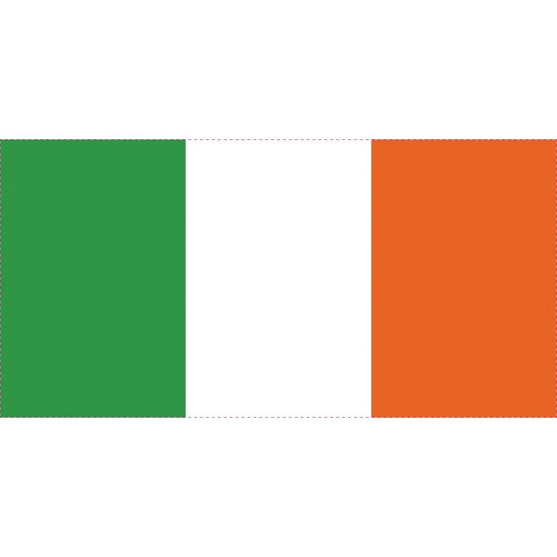 Drapeau Autocollant Irlande 10 cm