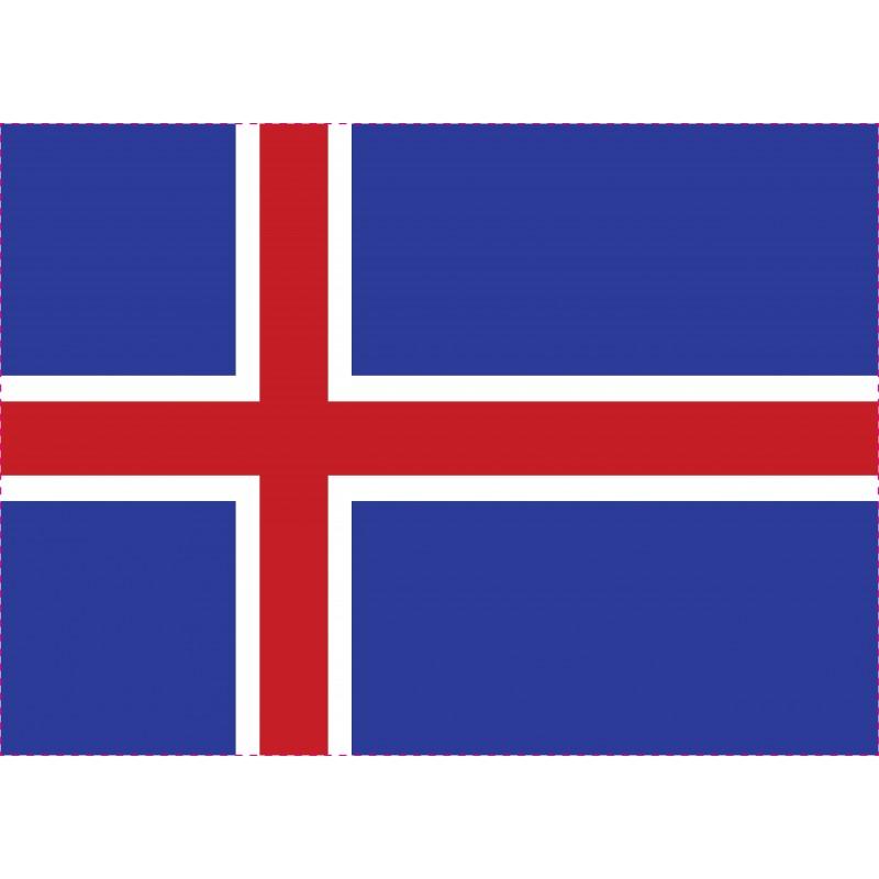 Drapeau Autocollant Islande 10 cm