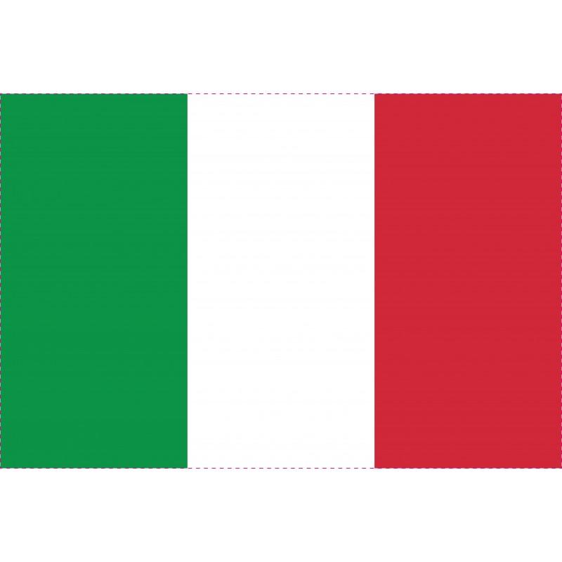 Drapeau Autocollant Italie 10 cm
