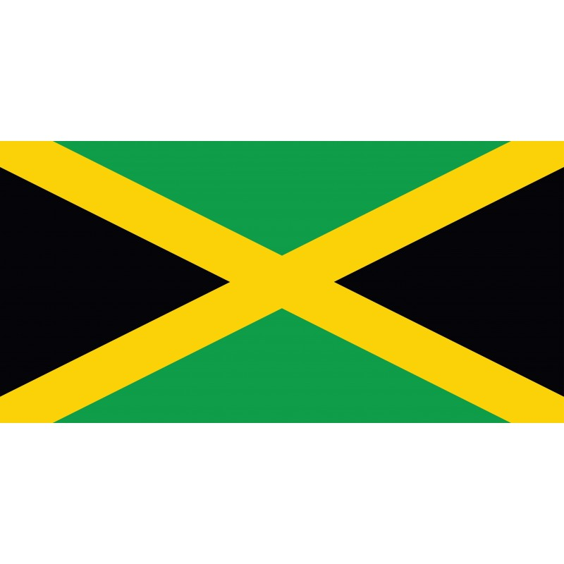 Drapeau Autocollant Jamaïque 10 cm