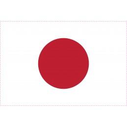 Drapeau Autocollant Japon 10 cm