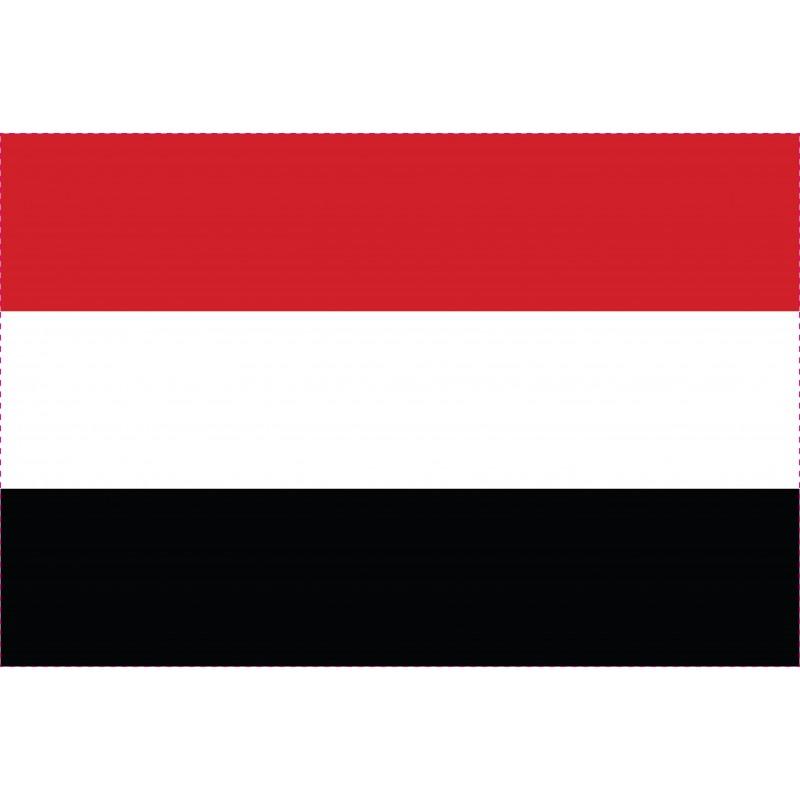 Drapeau Autocollant Yémen 10 cm