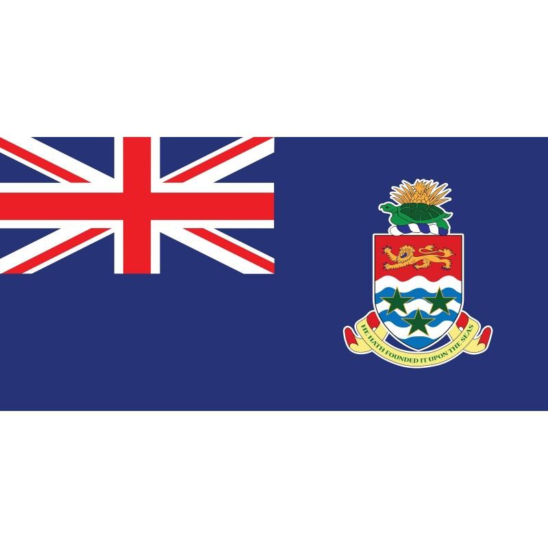 Drapeau Autocollant Îles Caïmans 10 cm