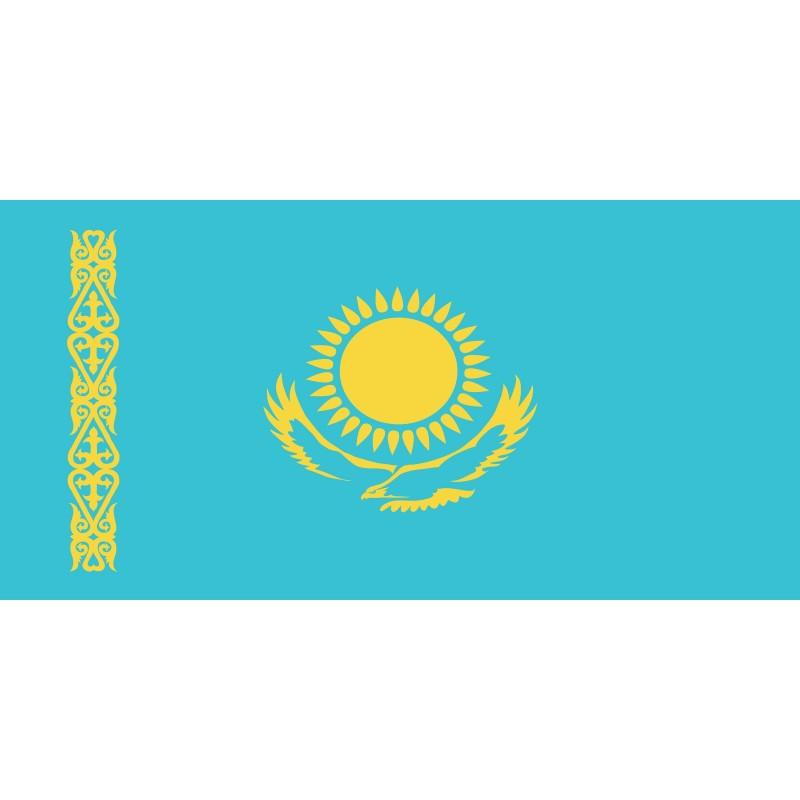 Drapeau Autocollant Kazakhstan 10 cm