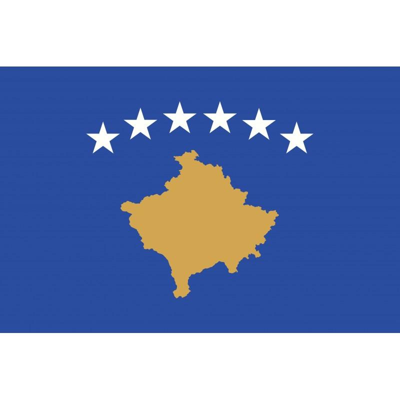 Drapeau Autocollant Kosovo 10 cm