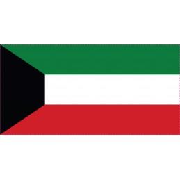 Drapeau Autocollant Koweit 10 cm