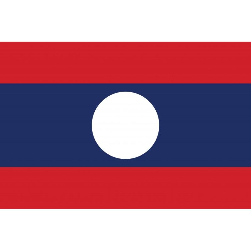 Drapeau Autocollant Laos 10 cm