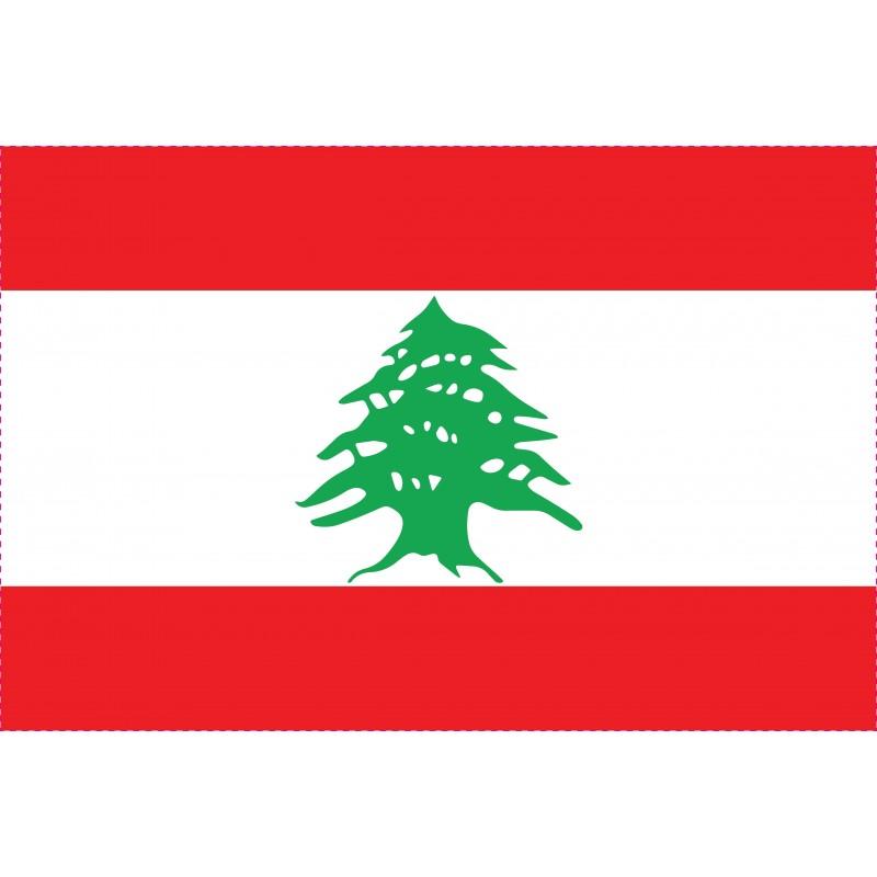 Drapeau Autocollant Liban 10 cm