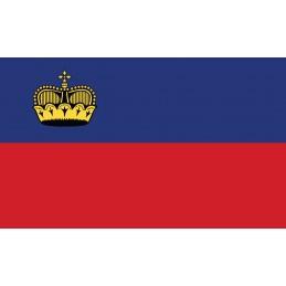 Drapeau Autocollant Liechtenstein 10 cm