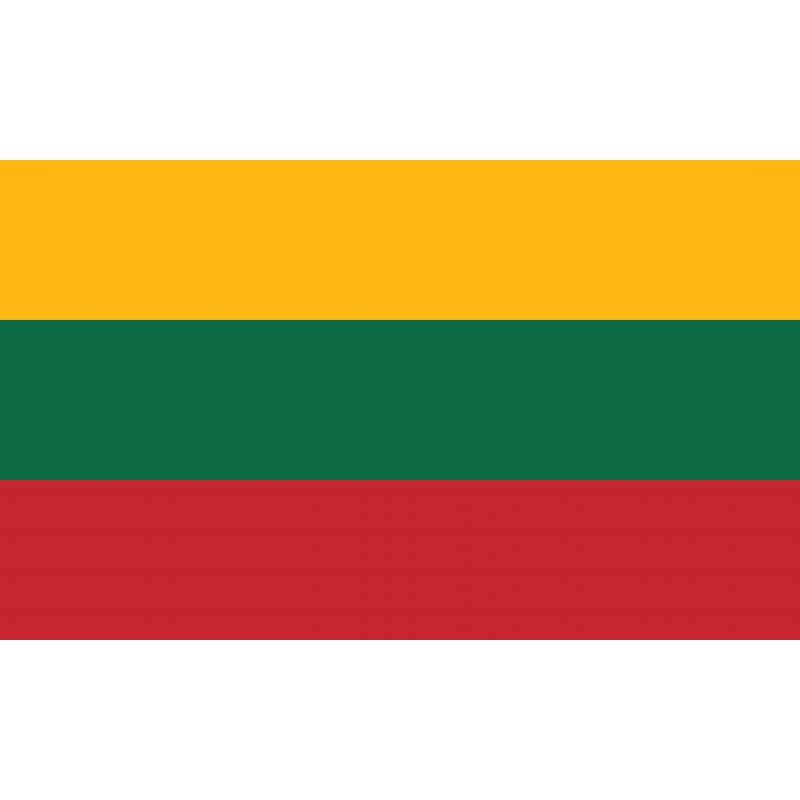 Drapeau Autocollant Lituanie 10 cm