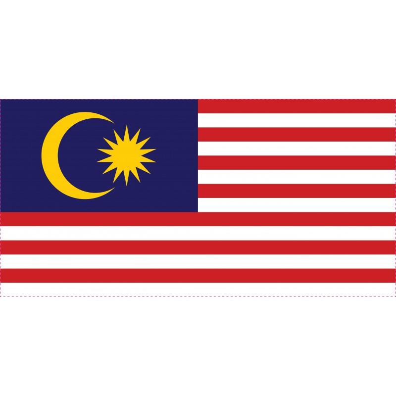 Drapeau Autocollant Malaisie 10 cm
