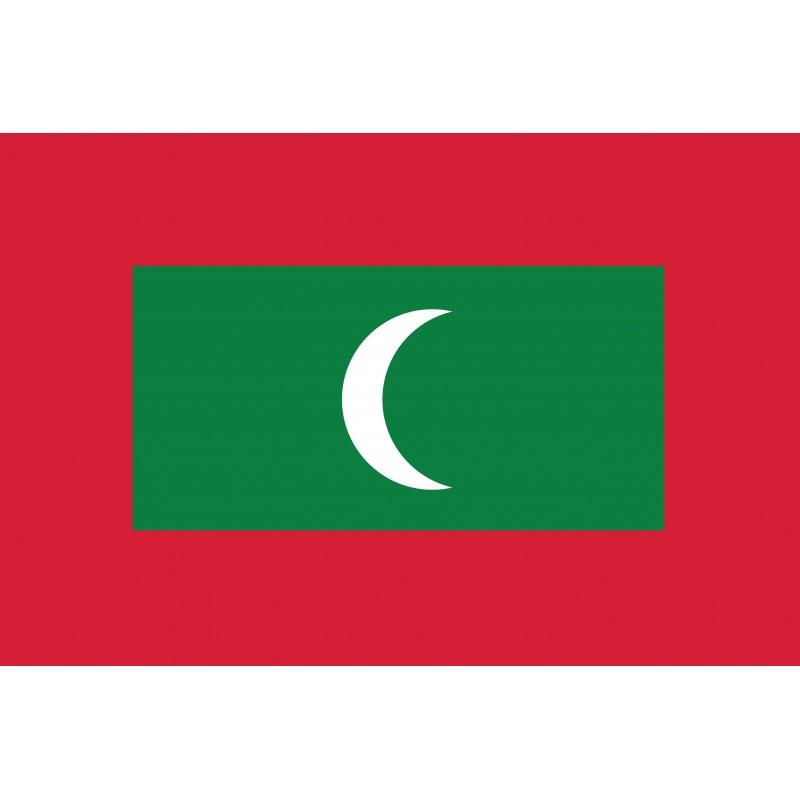 Drapeau Autocollant Maldives 10 cm