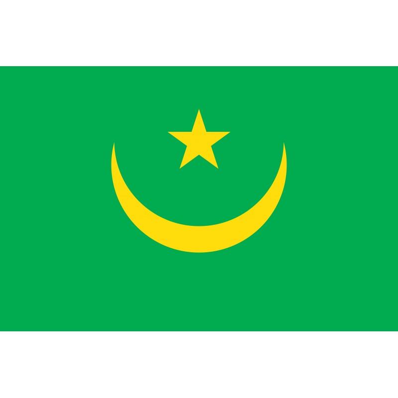 Drapeau Autocollant Mauritania 10 cm