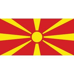 Drapeau Autocollant Macédoine 10 cm