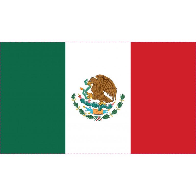Drapeau Autocollant Mexique 10 cm